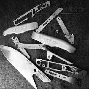 Set coltello Reverso Knife smontato by Reverso Ideas - Coltello professionale da chef Made in Italy